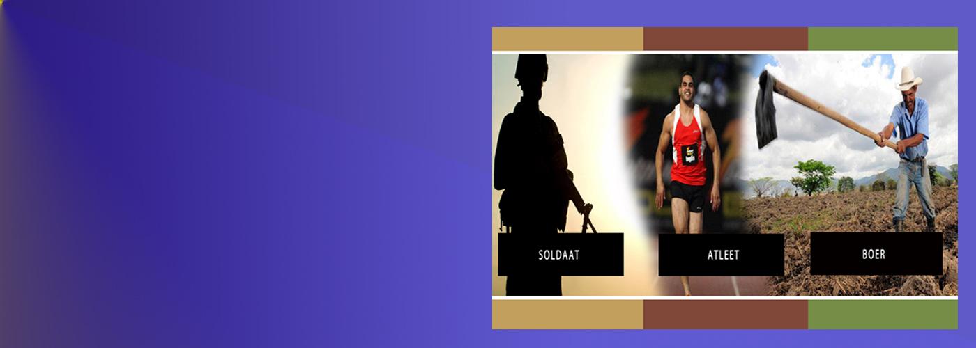 """Onderwijssessie: """"Wat we kunnen leren van de soldaat, de atleet en de boer."""""""